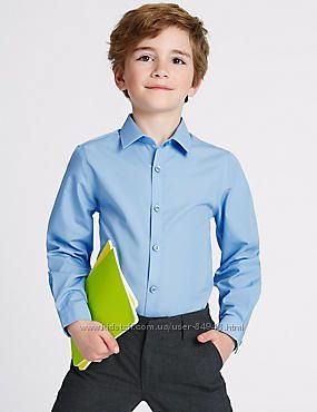 Школьная рубашка с длинным рукавом Marks&Spenser, Slim Fit. Оригинал