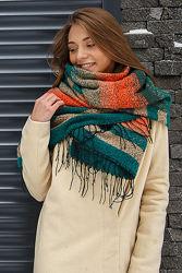 Новый теплый и большой шарф Амальфи