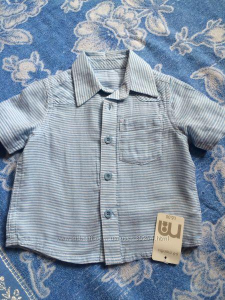 Рубашка mothercare 6-9m можно дольше