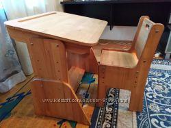 Детская ЭКО парта  Школярик , комплект парта, стул