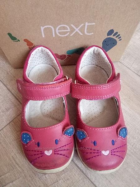 Туфли с котиками с закрытым носком NEXT размер 22 UK5,5