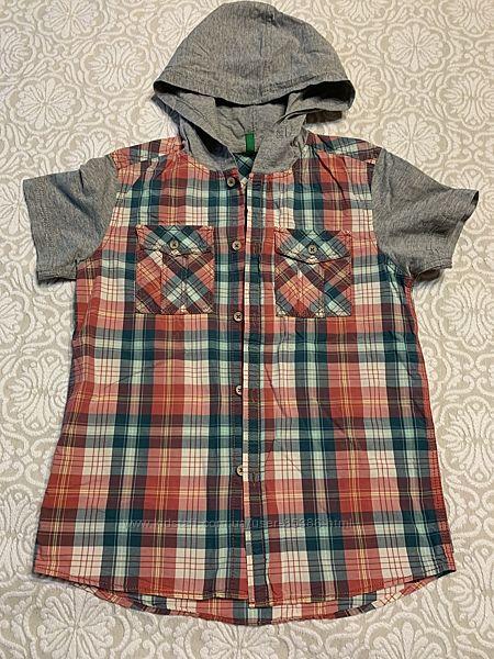 Продам легкую рубашку Benetton на возраст 9-11 лет в состоянии новой