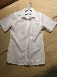 Рубашка M&S slim fit с коротким рукавом на 13-14 лет 164 см