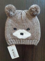 Демисезонная шапки-мишка