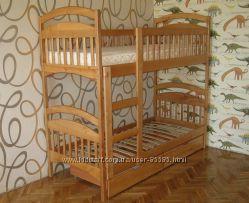 Двухъярусная кровать трансформер Карина с ящиками в наличии