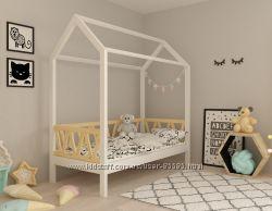 Кровать-домик Лиза 80х190 ольха. Выбор размера