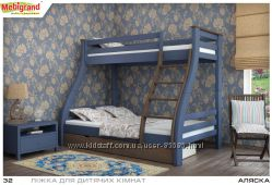 Деревянные кровати двухъярусные для детей. Mebigrand