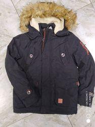 Зимняя парка куртка на мальчиков подростков 152 см
