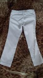Стильные белые брюки с лампасами на 3-4 года Benetton