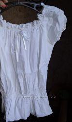 Белоснежная итальянская блузочка Glory Max размер S-М