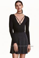 Боди с треугольным вырезом H&M