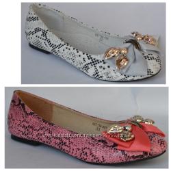 Туфли балетки для девочек Тм B&G 32-37
