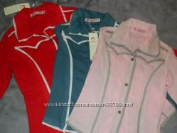 Стильные цветные блузочки. Суперраспродажа. 116-160см. Хлопок