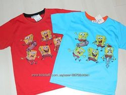 Распродажа - супер футболки на мальчиков Спанч Боб. 3-5 лет. Очень дешево
