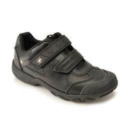 Туфли кроссовки чёрные натуральная кожа мальчику р. 29-30 19. 5 см стелька