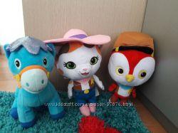 Мягкие игрушки из мультика Шериф Келли - кошка, лошадка Лучик и Клювик
