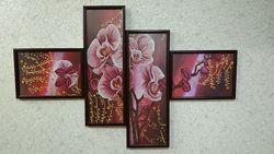 Картина бисером Дикая орхидея