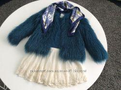 Шубка Zara из искусственного меха 152 см