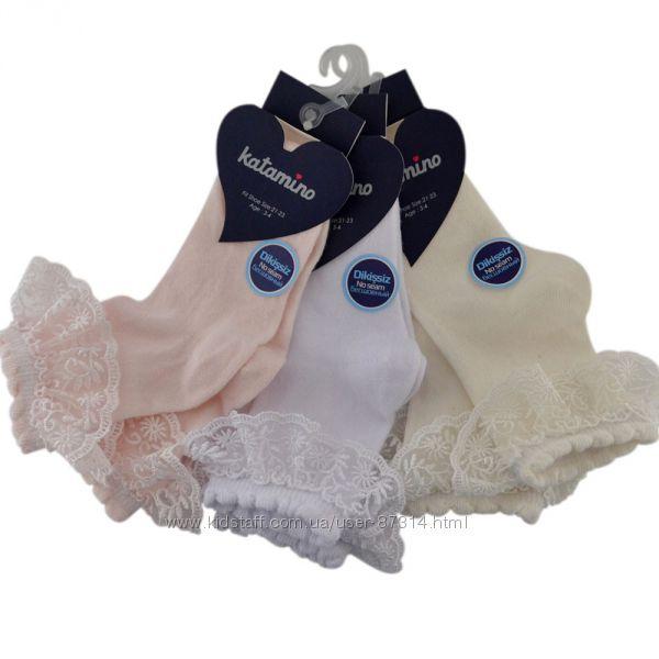 Белые колготки, носки, гольфы Arti и Katamino в садик, школу с 98 до 156см