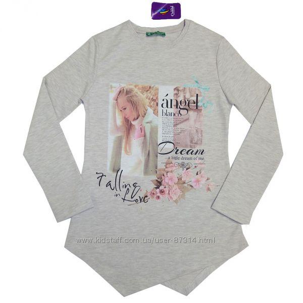 Модные регланы и свитшоты для девочек 104-152 рост Турция Breeze