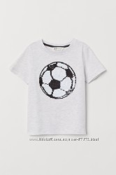 Футболка с перевертышами H&M размер 4-6 лет на рост до 116 см