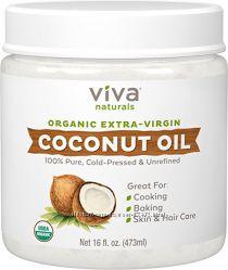 Кокосовое масло органическое Viva Naturals Organic Extra Virgin, 473мл