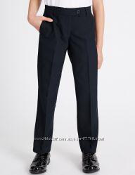 Школьные брюки M&S, размер 7-8, цвет синий