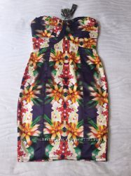 Коктейльное летнее платье Lipsy размер 12.