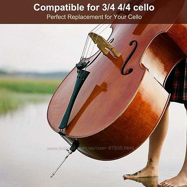 Деталь для виолончели EbonyWoodClassicTailpiece для 34 виолончели 44
