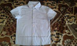 Продам школьную голубую рубашку Bebepa на 5-6 лет