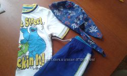 Продам яркий летний костюм Marks&spencer на 4-5 лет и бандана Chicco
