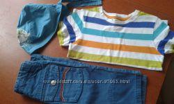 Продам шикарные фирменные бриджи на 3-5 лет футболка Н&M и бандана Chicco