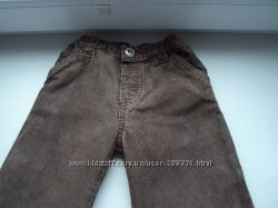 Штаны вельветовые 6-9 месяцев, отличное состояние, 74 размер, на памперс
